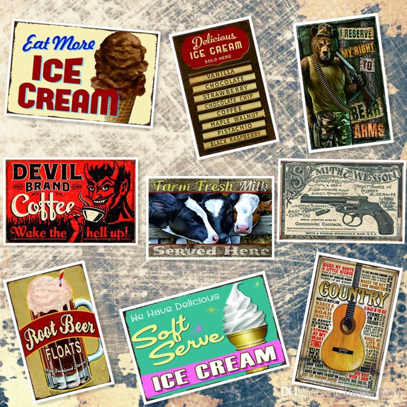 2019 farm milk delicious ice cream menu root beer decorative retro
