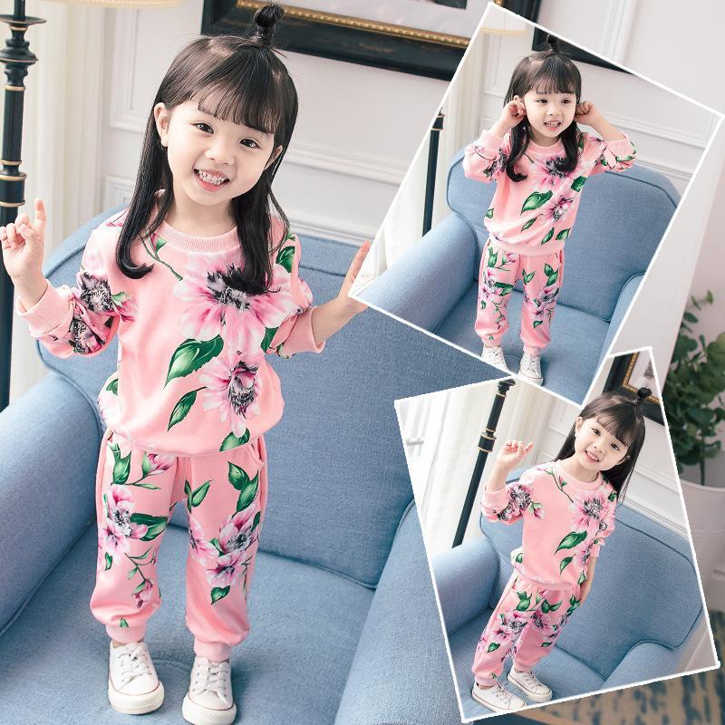 507a3d321bc4c Compre Ropa Para Niñas Bebés Traje De Otoño Más Vendido Moda Coreana  Algodón Informal Trajes Para Niños Gases Para Niños Pequeños A  33.5 Del  Victorys03 ...
