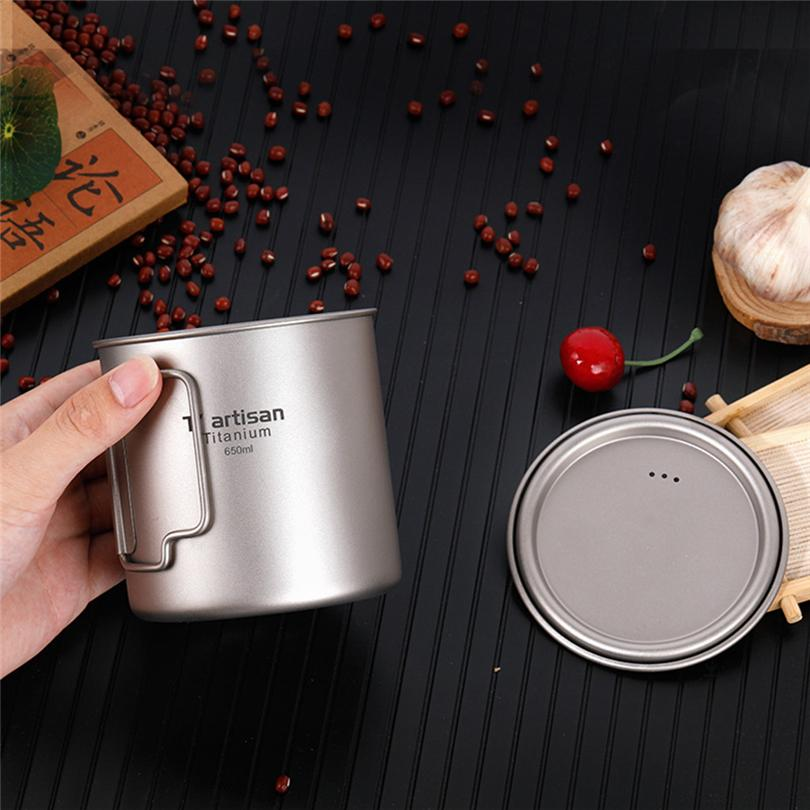46c10cf4804 Ultralight Titanium Cup Picnic Outdoor Titanium Water Mug With Folding  Handles Drinking Camping Cups AK4 24 Large Glass Coffee Mugs Large Glass  Mugs For Tea ...