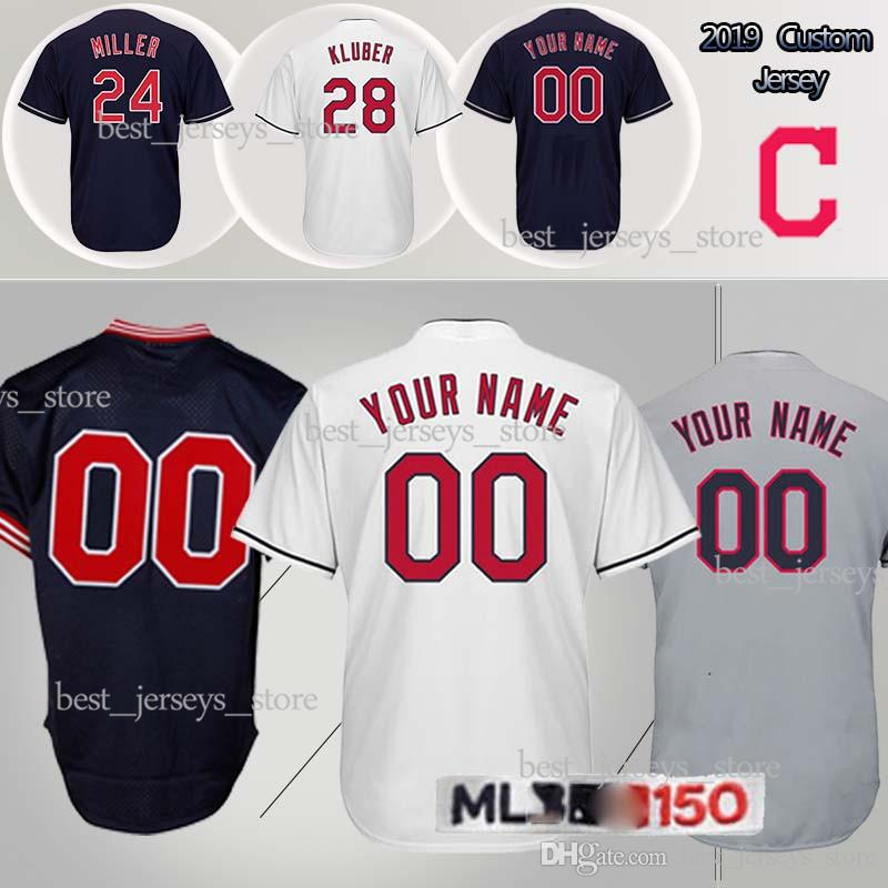 new concept 9d555 abc13 customized jerseys Cleveland Baseball indians 30 Joe Carter 12 Lindor 24  Miller 28 Kluber 10 Edwin Encarnacion Design Jersey 2019