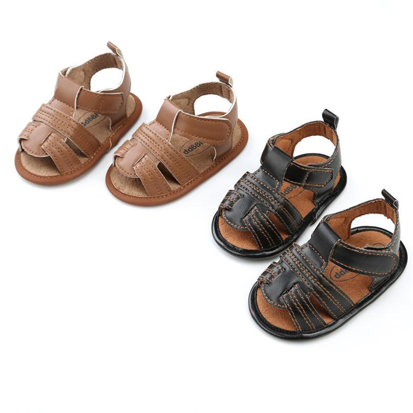 2de7e90fd Summer Baby Boys Sandals Newborn Toddler Baby Girls Boys Solid Casual Sandals  Soft Sole Anti Slip Shoes Baby Sandals M8Y16 Toddler Sneakers Boys Chappals  ...