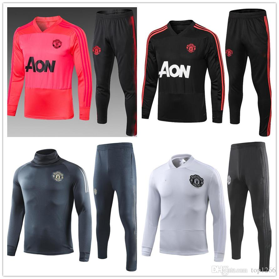 lowest price b7efa 70b53 TOPAAA+ new pink manchester united training mens designer tracksuits  chandal training football foot ronaldo mbappe chandal futbol jacket kit