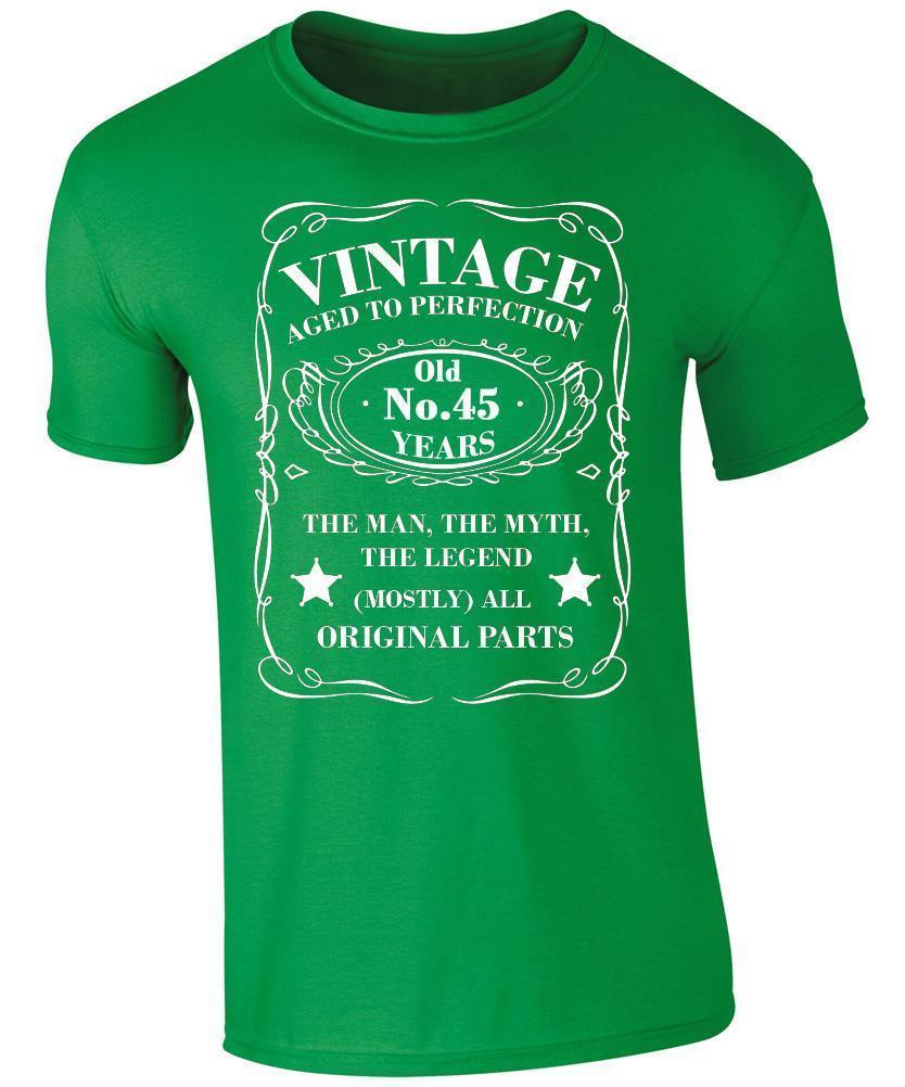 Vintage 45 Years Old T Shirt 45th Birthday PresentFunny Unisex Casual Tshirt Good Sites One Tee A Day From Gooddonnedmyg