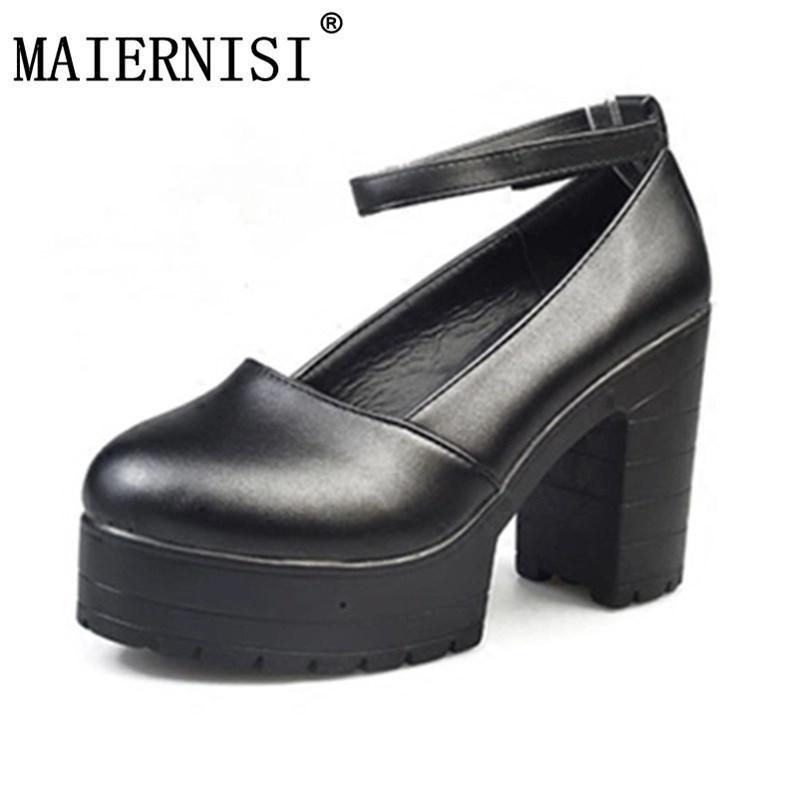 93e439c4194 2019 Factory Outlet Big Spring Ladies Footwear Casual Thick Heels Platform  Shoes For Girls Europe Women Hihg Heels Shoes Pumps Mens Dress Boots Men  Sandals ...