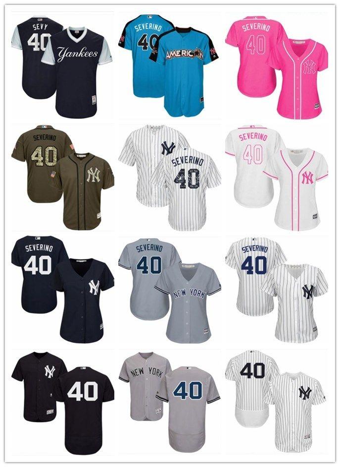 4ea0fc4db 2018 Top New York Yankees Jerseys #40 Luis Severino Jerseys Men ...