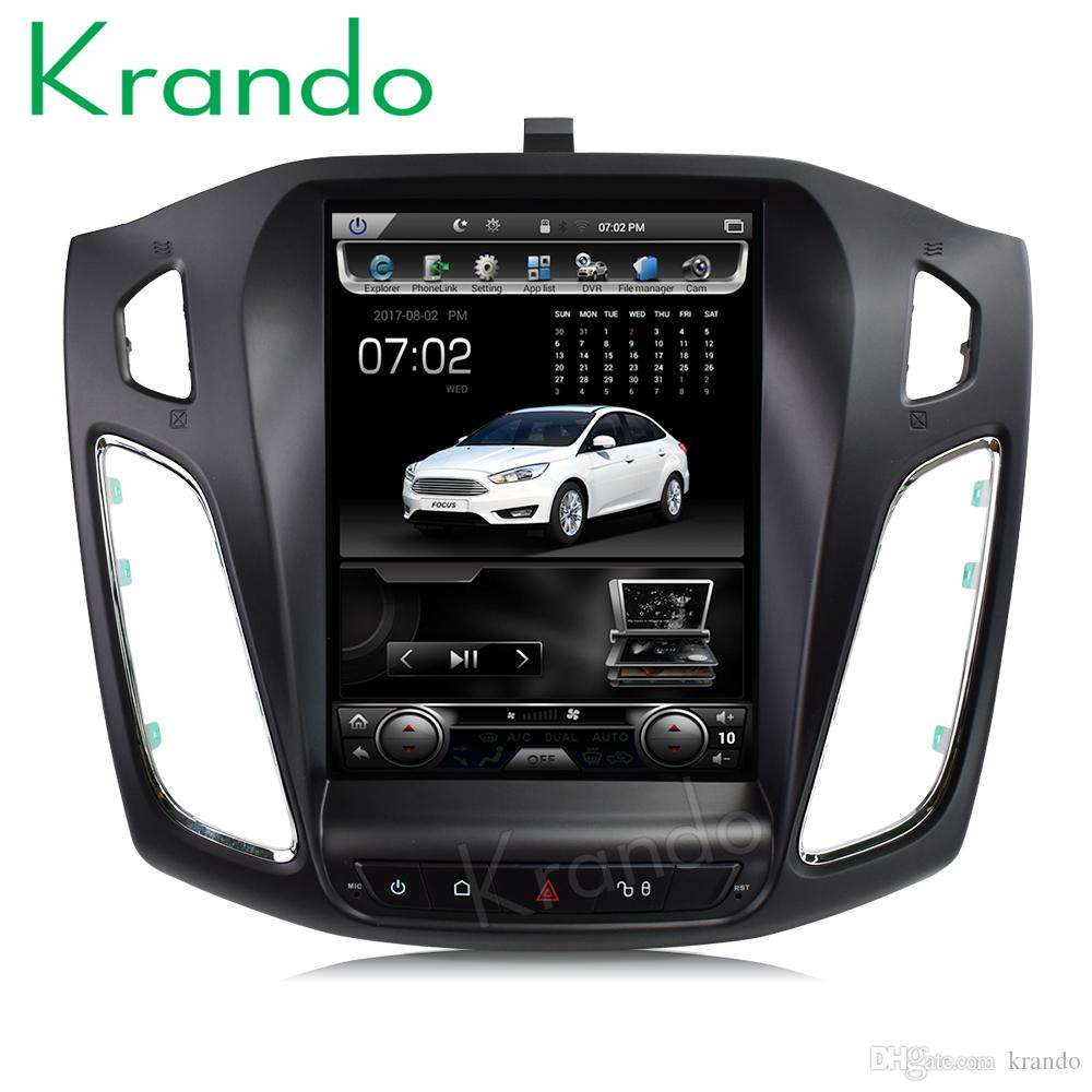 Krando Android 7 1 10 4 Vertical screen car dvd radio gps navigation player  for Ford Focus 2012 multimedia system with Bluetooth