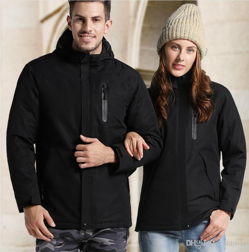 Designer Outdoor Jacket Men and Women Smart USB Heating Jacket Autumn and Winter Warm Mountaineering Suit Large Size Jacket