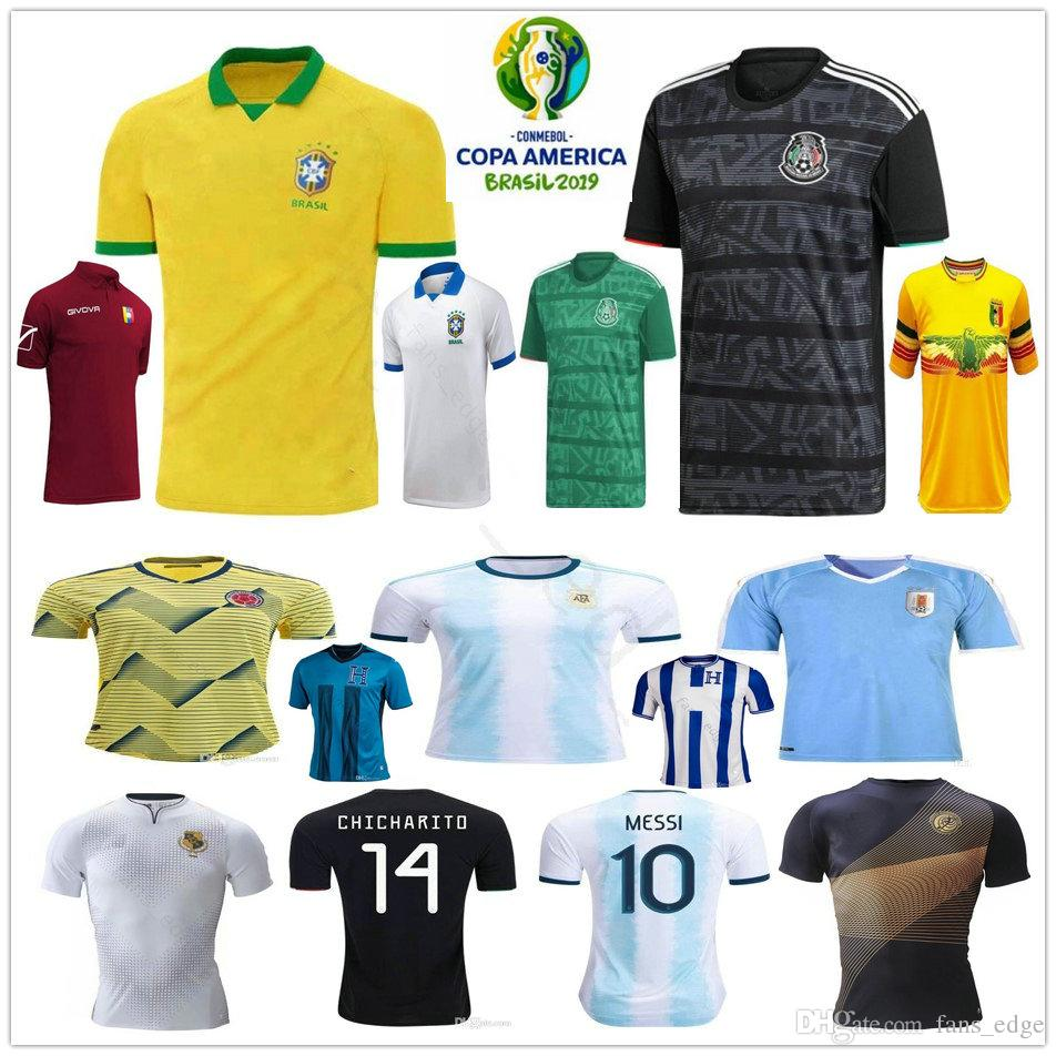 78824f484a2 2019 Copa America Soccer Jerseys Argentina Messi Brasil Colombia ...