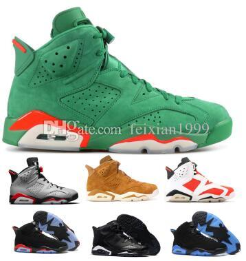 0f1580578ab350 Men 6 6s Basketball Shoes Women Reflective Infrared UNC Nrg Tinker Gatorade  Carmine Oreo 2019 Green Cat Sneaker VI Designer Man Basket Shoes Shoes  Brands ...
