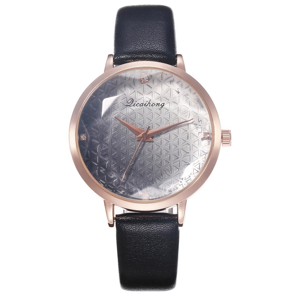 2019 New Arrival Leather Casual Luxury Woman Watch Rose Gold Dial Ladies Quartz Watch Female Bracelet Women Watches Colok Reloj