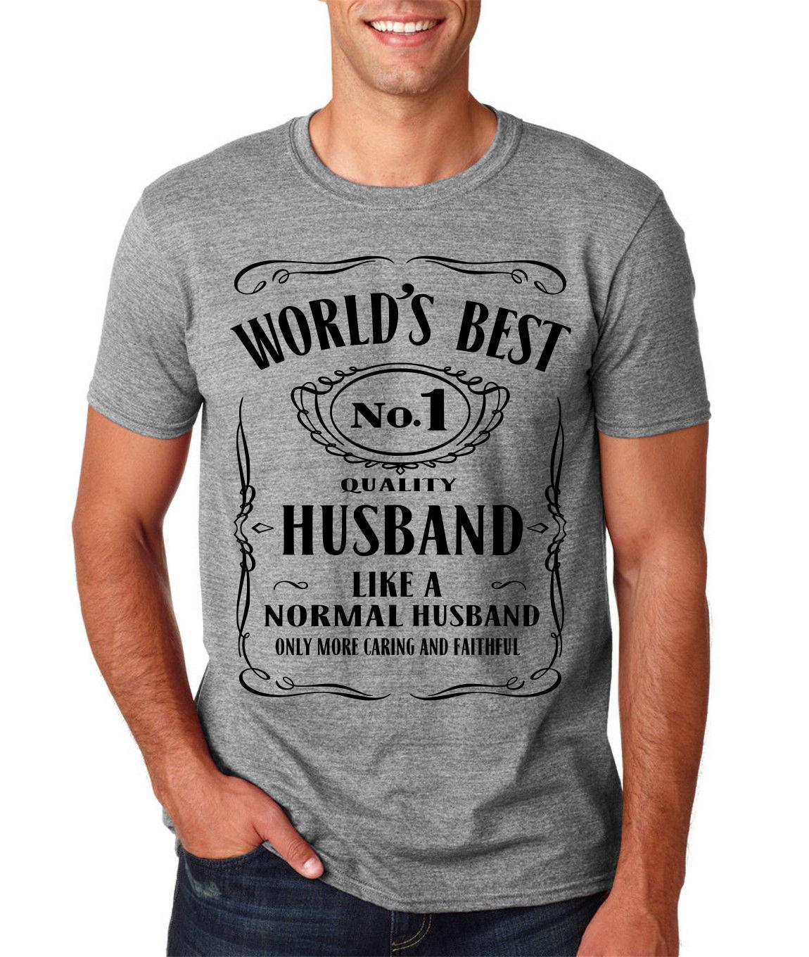 World Best Husband No 1 Mens T Shirt Birthday Gift Valentine Funny Lovers DT Top Tee Hipster O Neck Casual Family Sports Shirts Men