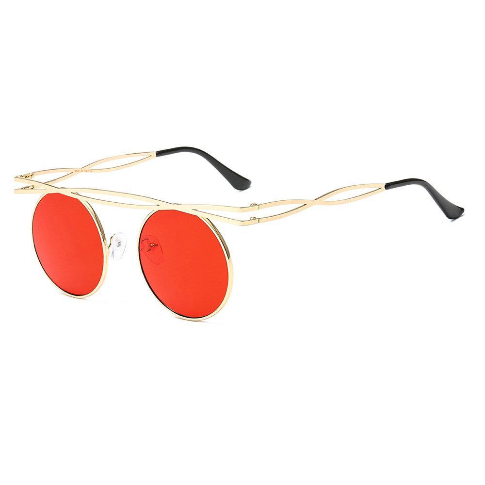 95bf75fdf9 Compre 2019 Retro Mujeres Ronda Gafas De Sol Punk Marca Diseño Moda Hombres  Punk Goggle Hollow Gafas De Sol Espejo / Lente Tintada UV400 FML A $47.49  Del ...