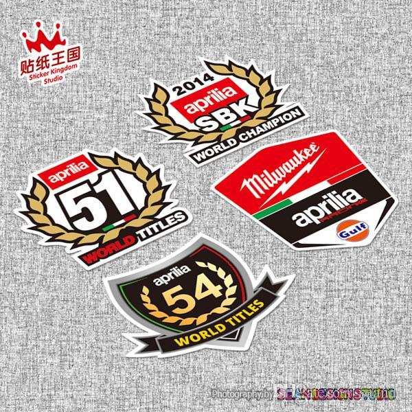 Für Aprilia Racing Rs4 Rs125 Rs250 Tuono Caponord Rsv4 Moto Helm Motorrad Aufkleber Moto Bike Aufkleber Wasserdicht 20