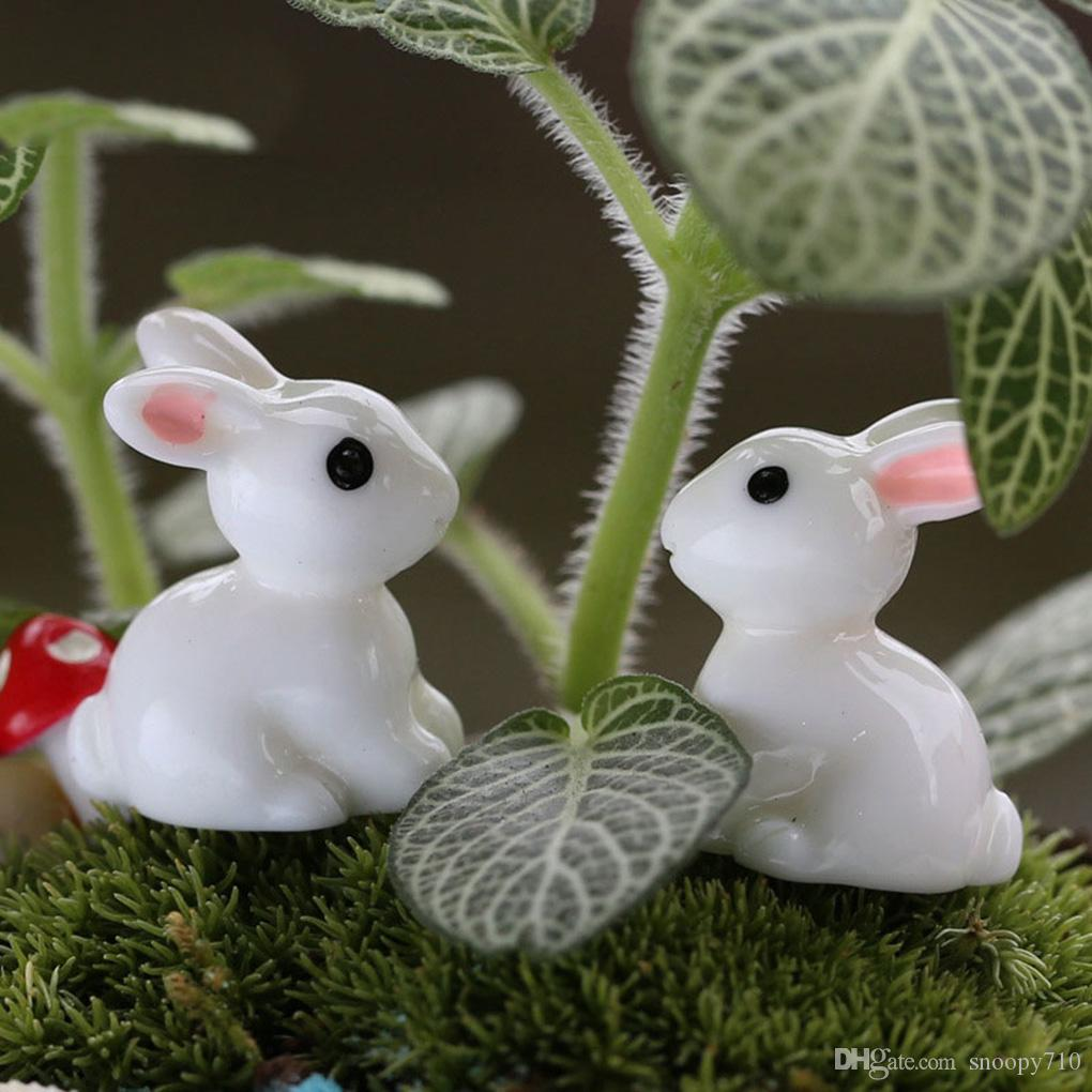 Lovely Resin Plants Rabbit Cute Micro Landscape Succulent Ornaments Decorazione di piante Garden Miniature DIY Doll