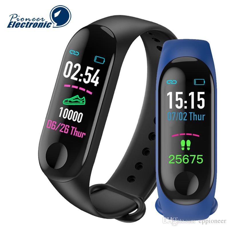 Rastreador Pulse Monitor Ritmo Fitbit Mi Reloj 3 Actividad Ejercicios Xiaomi Pulsera De Cardíaco Relógios Banda Pk M3 Inteligente OPiuTwXlkZ