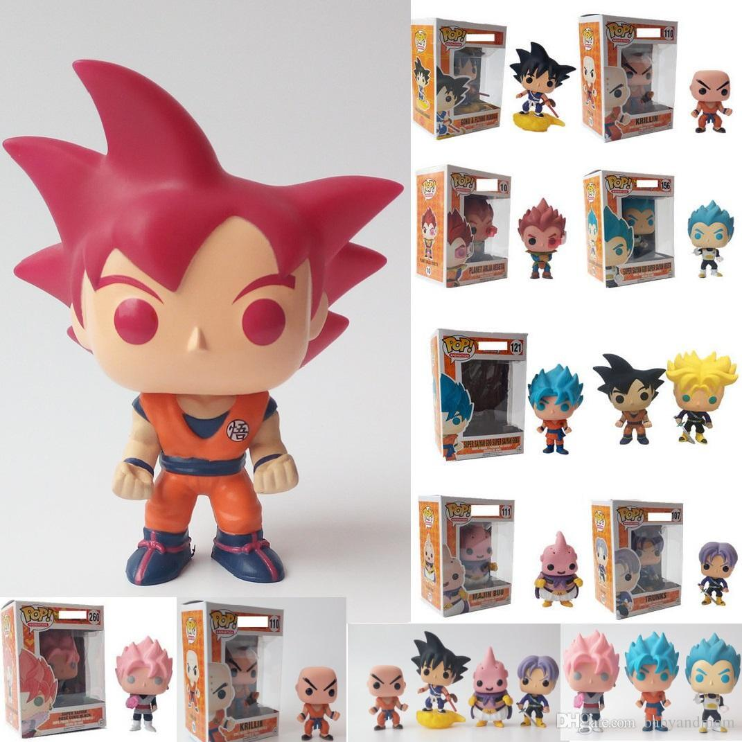 16 Styles Funko Pop Dragon Ball Z Goku Super Saiyan God Vinyl Action Figure With Box Red Gift
