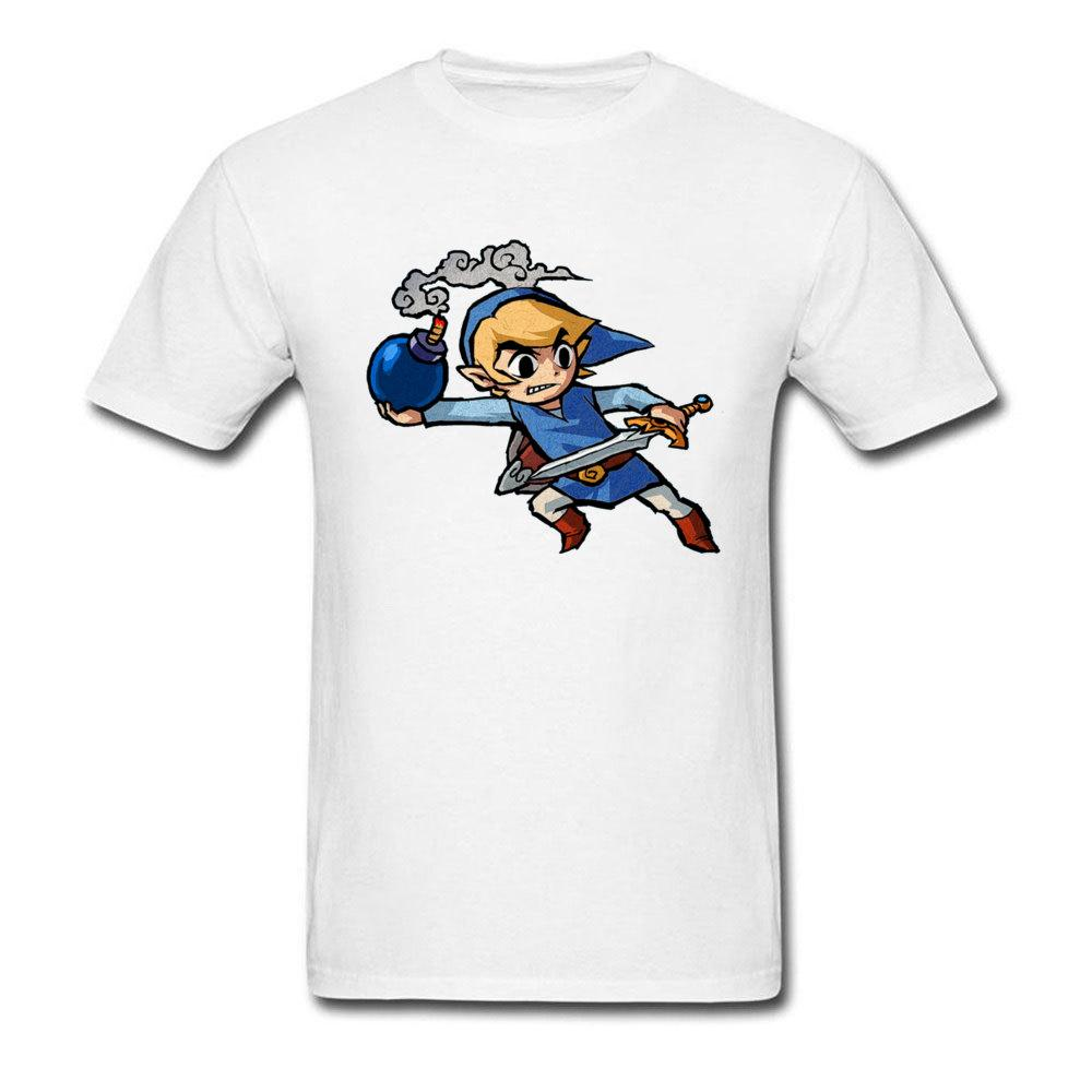 100% Baumwolle Männer T-Shirts Slim Fit T-Shirt Lustige Legend Of Zelda T Shirts Cartoon-Zeichnung Tops Tees Kawaii Ramen Bombe Camiseta