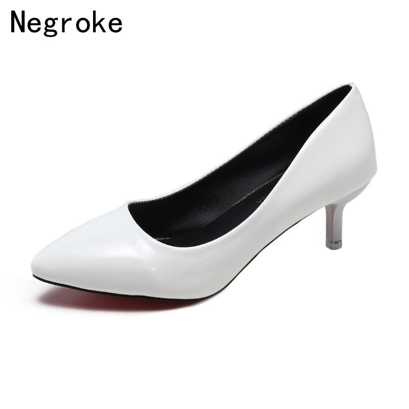 Designer Dress Shoes 2019 Fashion High Heels Women Pumps Sexy Black White  Stiletto Office Party Wedding Pointed Toe Zapatos Mujer Hiking Shoes Sperry  Shoes ... 839e9f0c09c0
