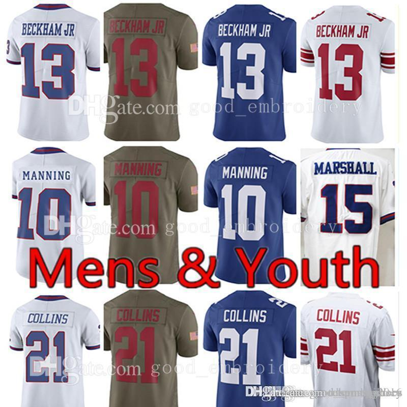 06c1ee038 Men s Youth New York 10 Eli Manning 13 Odell Beckham Jr Gaint Jersey 21  Landon Collins 15 Brandon Marshall 87 Sterling Shepard Jerseys 10 Eli  Manning 13 ...