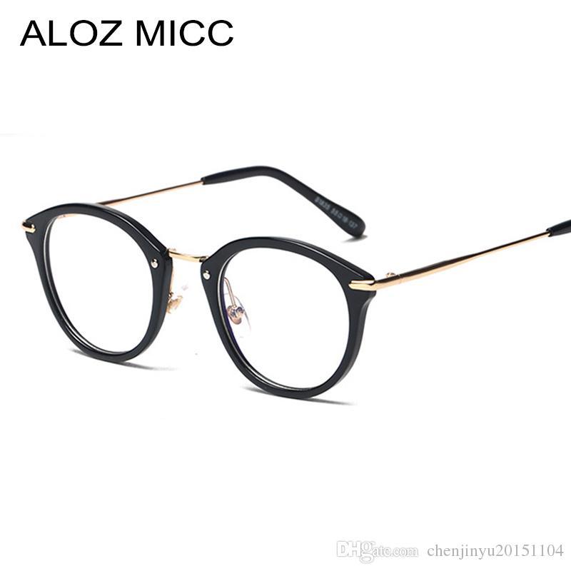 a11fe3f06d 2019 ALOZ MICC High Quality TR Frame Fashion Glasses Women Eyeglasses Frame  Vintage Round Clear Lens Glasses UV400 A017 From Chenjinyu20151104