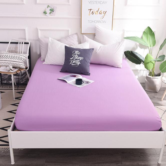 Großhandel Rosa Graue Baumwolle Spannbetttuch Matratzenbezug