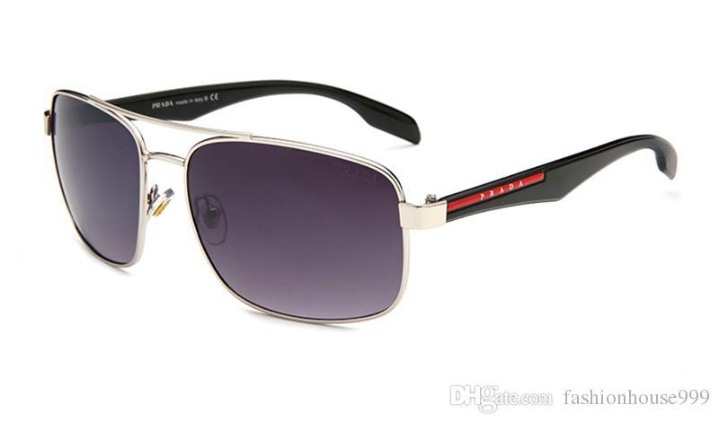 5d7f2bc8f Compre PRADA Top Quality Moda Óculos De Sol Das Mulheres Dos Homens Do  Vintage Óculos De Armação De Ouro Polarizada Homem Sun Óculos De Sol Óculos  De Sol ...