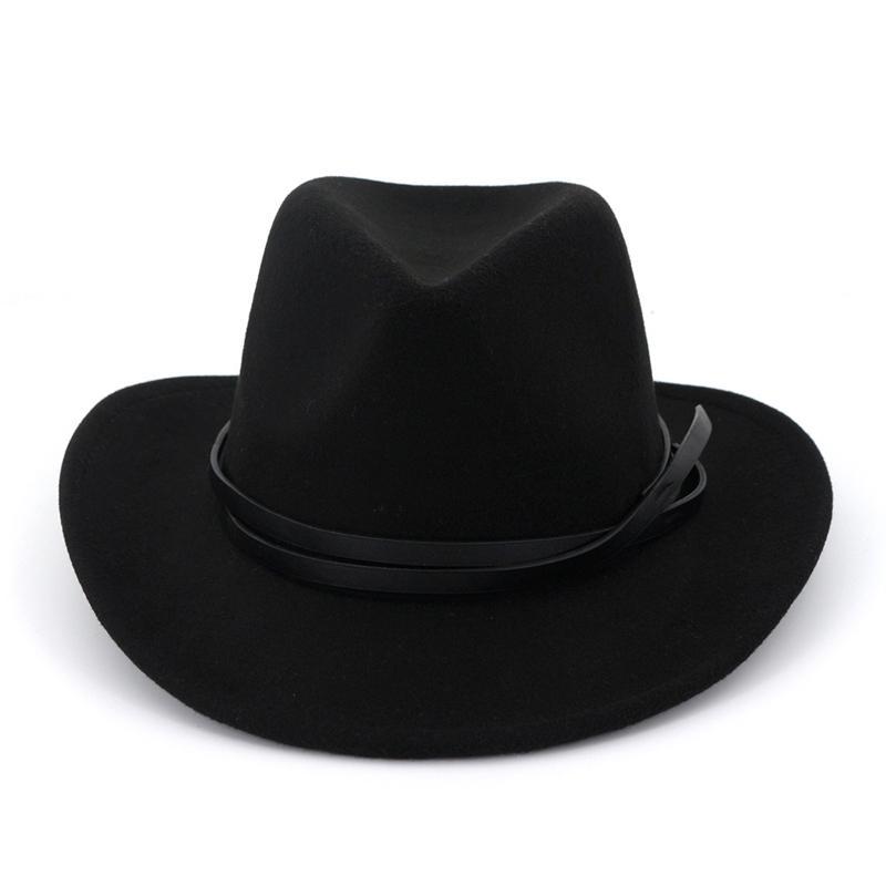 Unisex Men Women Western Cowboy Jazz Hat Fashion Belt Decor Wool Felt  Fedora Hats Wide Brim Carnival Trilby Sombrero Crazy Hats Fishing Hat From  Gslyy0712 2d1e68ad618