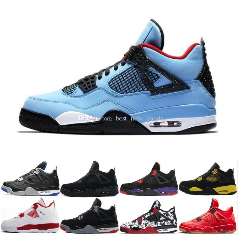 d31785b9fe48 2019 2019 4 IV 4s Basketball Shoes Men 4s Pure Money Royalty White Cement  Premium Black Bred Fire Red Mens Sports Sneakers Size 8 13 From  Best new goods