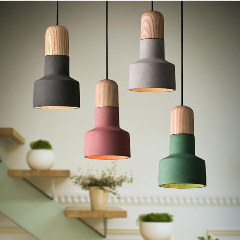 Creative Simple Small Cement Pendant Light Retro Restaurant Cafe Bar  Industrial Designer Lighting