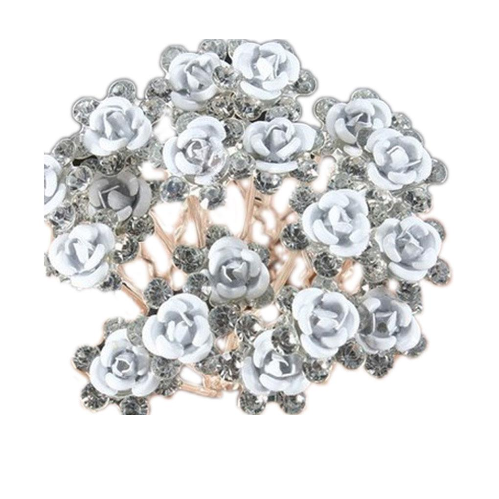 50ef426cf2423 Wedding Bridal Crystal Pearl Flower Hair Pins Clips Bridesmaid Prom Hair  Accessories Hair Band For Women Women Hair Clips From Sophine06