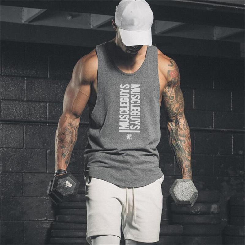 ddeb568e509af Brand Gyms Clothing Bodybuilding Fitness Men Stringer Tank Top Workout Vest  Sportswear Undershirt Mens Muscle Shirt Cool Sweatshirts Online Random  Funny T ...