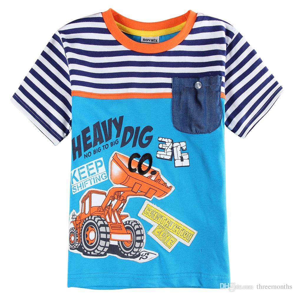 617752b07436 2019 Summer Round Collar Boy S New Cotton Children S Classic Fashion T Shirt  From Threemonths
