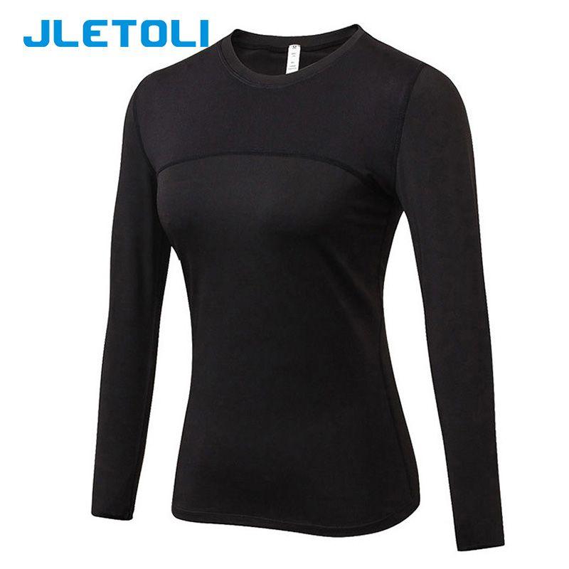 Compre JLETOLI Camisas Deportivas Para Mujer Dry Fit Camisetas Para Correr  Ropa Deportiva De Manga Larga Trajes Deportivos Gimnasios Tops Mallas Ropa  ... 8f0ab0471a1d9