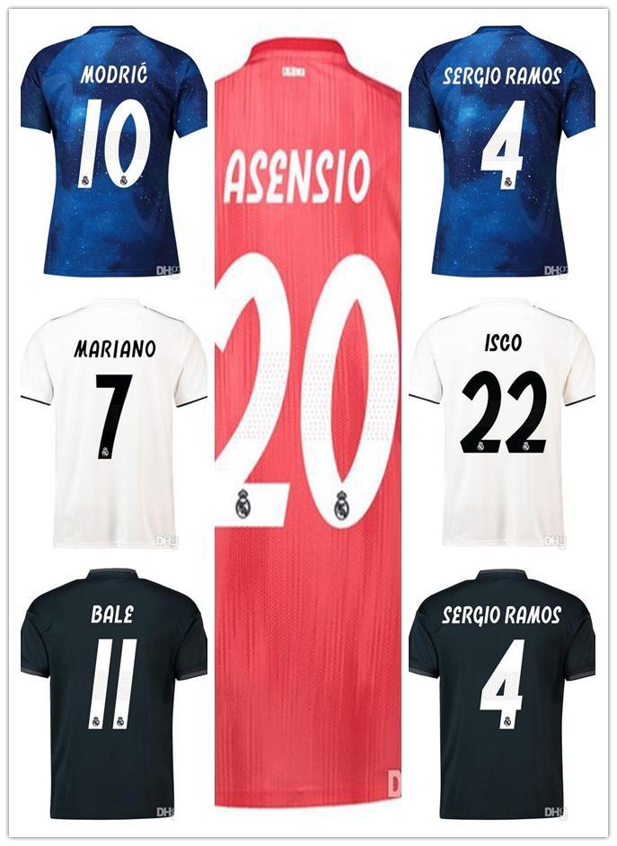 167e436fc66e1 Camisetas Para Hombre Real Madrid 2018 2019 Camiseta De Fútbol Para Mujer  MODRIC MARIANO ASENSIO VINICIUS JR Camiseta De Fútbol BALE RAMOS Camiseta  ISCO ...