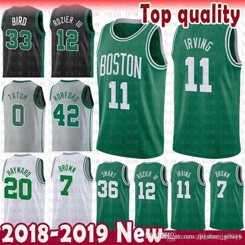 new arrival 43047 6f0d2 11 Kyrie Cheap Irving 33 Bird Marcus 36 Smart Boston Jersey Celtic Jayson 0  Tatum 20 Hayward Jaylen 7 Brown Al 42 Horford 12 Rozier III