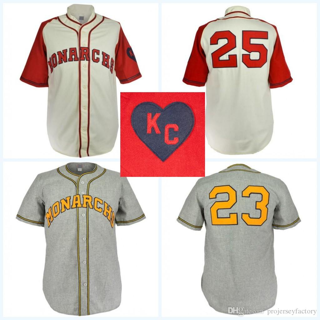 wholesale dealer 27a63 61814 Kansas City Monarchs 1942 Home Jersey Movie Baseball Jersey 100% Stitched  Name & Number Logos For Mens Womens Youth Mix Order Free Shipping