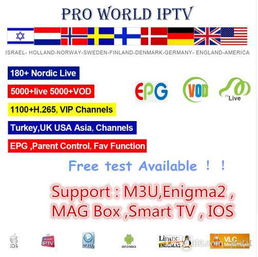 Word Pro IPTV 4700+ Isreal Europe Arabic USA Canada Latino American Brazil Korean IPTV Channels+100+ H.265 High Speed VIP IPTV Channels