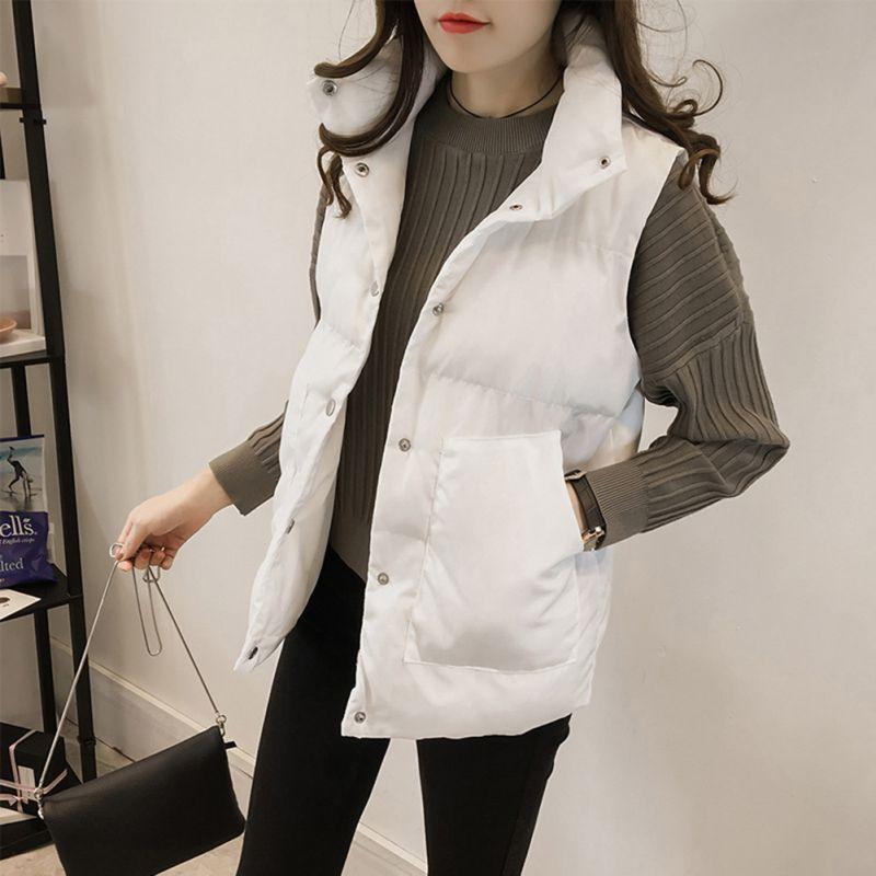 3982f406876 2019 New Women Parka Vest Winter Women Casual Plus Size Sleeveless ...