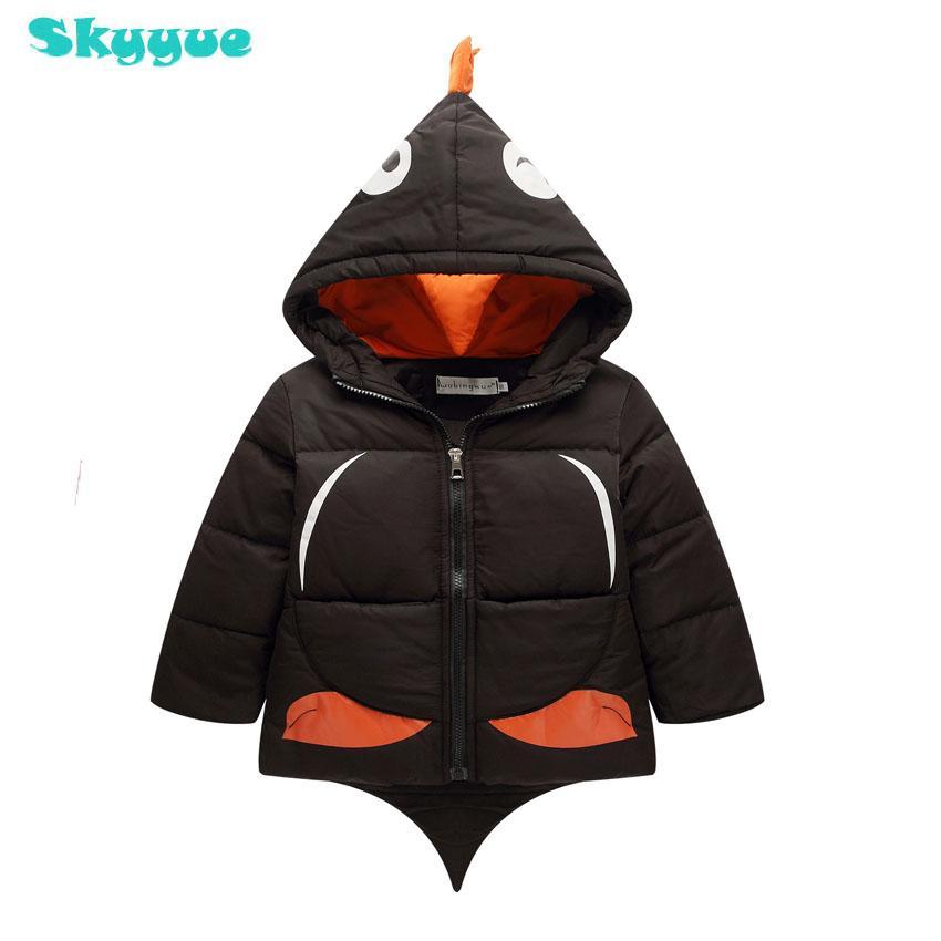 373e3cb55d92 Children Penguin Shape Jackets Boys Girls Winter White Duck Down ...