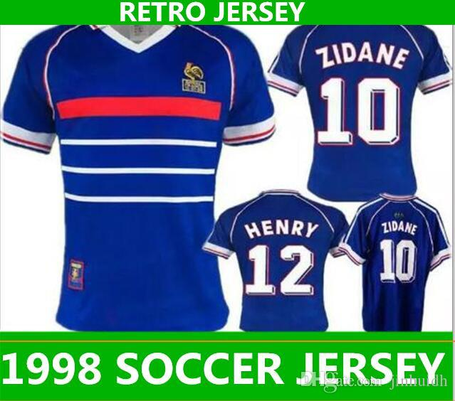 2019 Big Size XXL World Cup 1998 Retro FRANCIA Soccer Jerseys Top Thai  Franch AAA Customzied Name Number Zidane Soccer Uniforms Football Jerseys  From ... 5b0f7c7f3