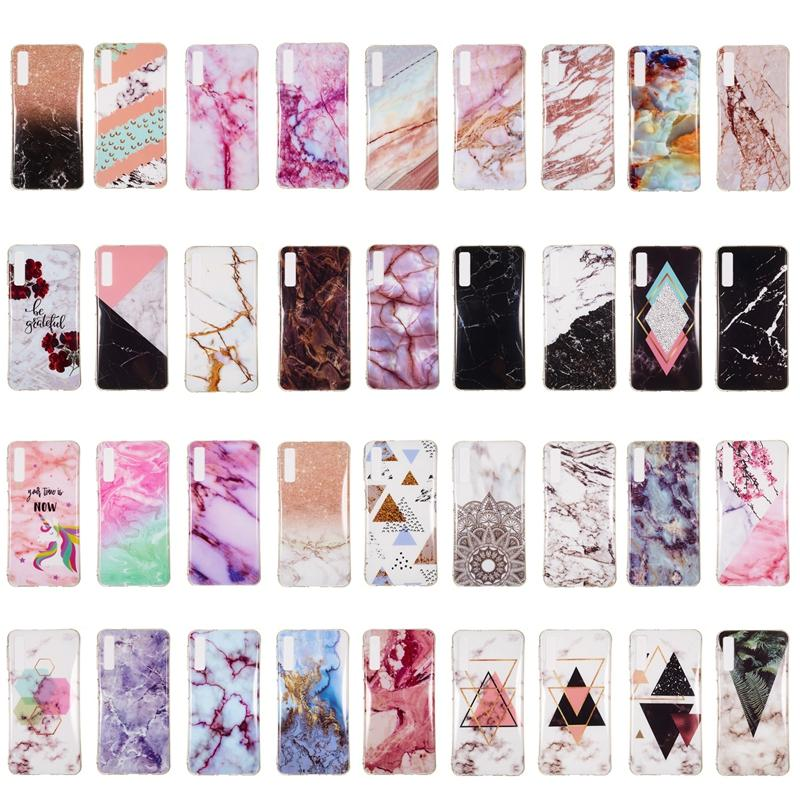 Marble Soft TPU Case For Samsung S10 Plus S10 Lite A7 A9 J6 J4 2018 Huawei P30 Pro Redmi Note 6 Pro IMD Natural Stone Rock XZ4 Fashion Cover