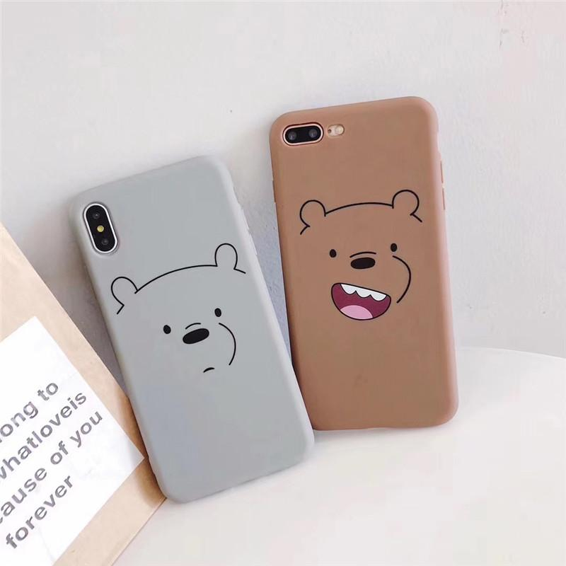 One Piece luxury TPU Phone Case for Iphone XS MAX XR 7 8 P designer Phone Back Cover lovely bear and rabbit Emoji