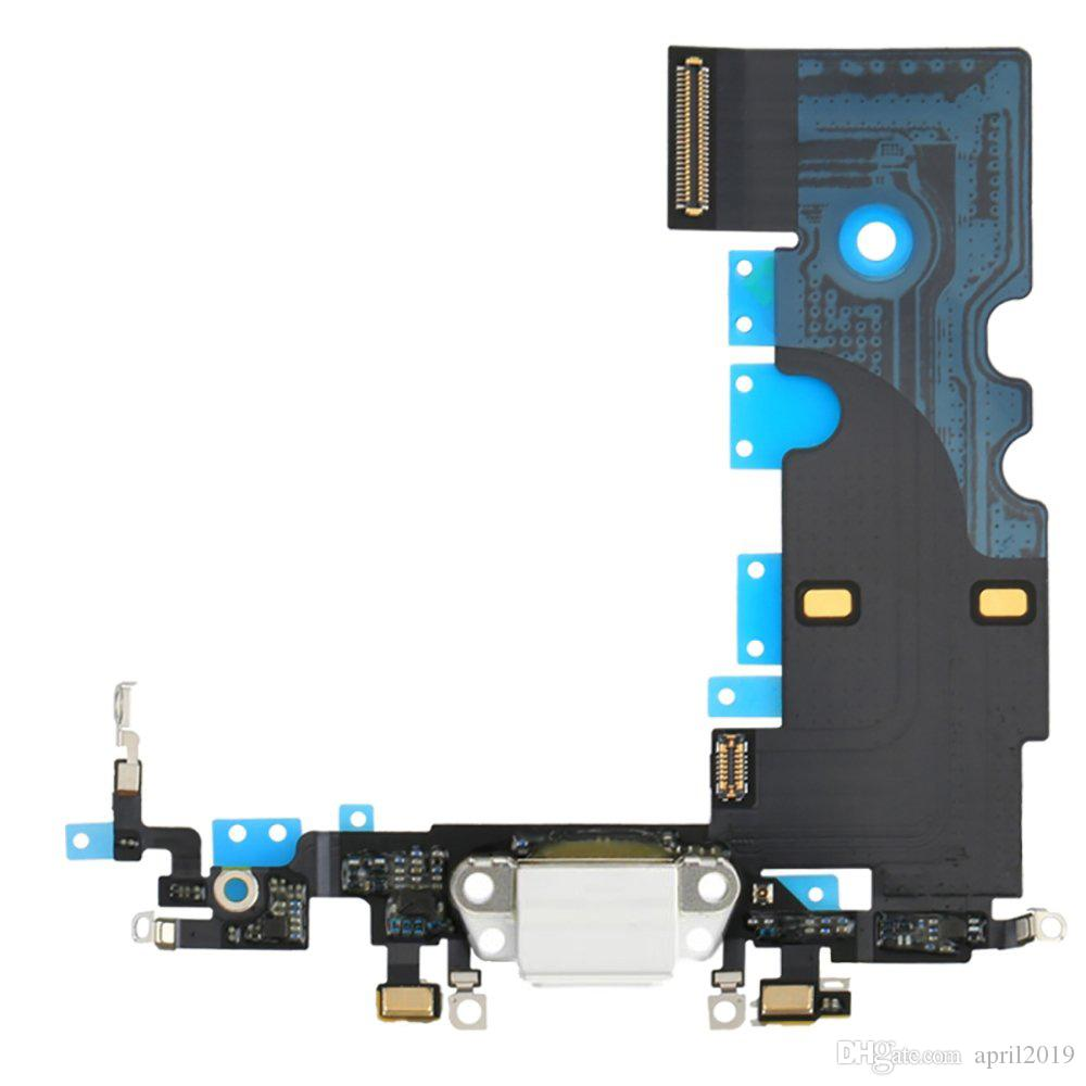 1pcs For iPhone 8 8 Plus USB Charger Charging Port Dock Connector Flex Cable With Headphone Audio Jack USB Port Replacement