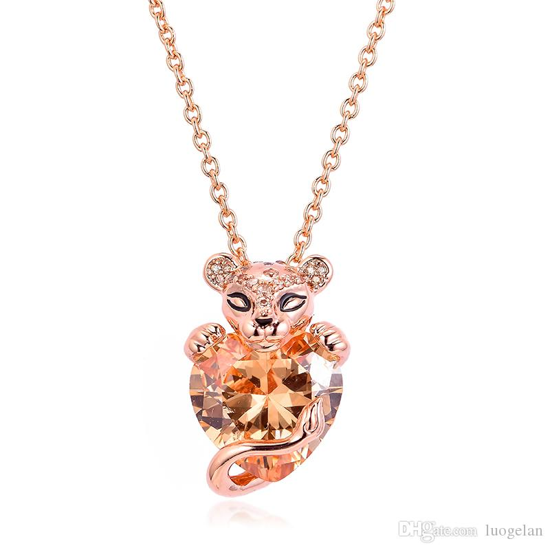 2019 New Arrival Lion Princess Heart Chain Pendants Necklaces 925 Sterling Silver Necklace Fashion Pendant Fits for Women Jewelry Making
