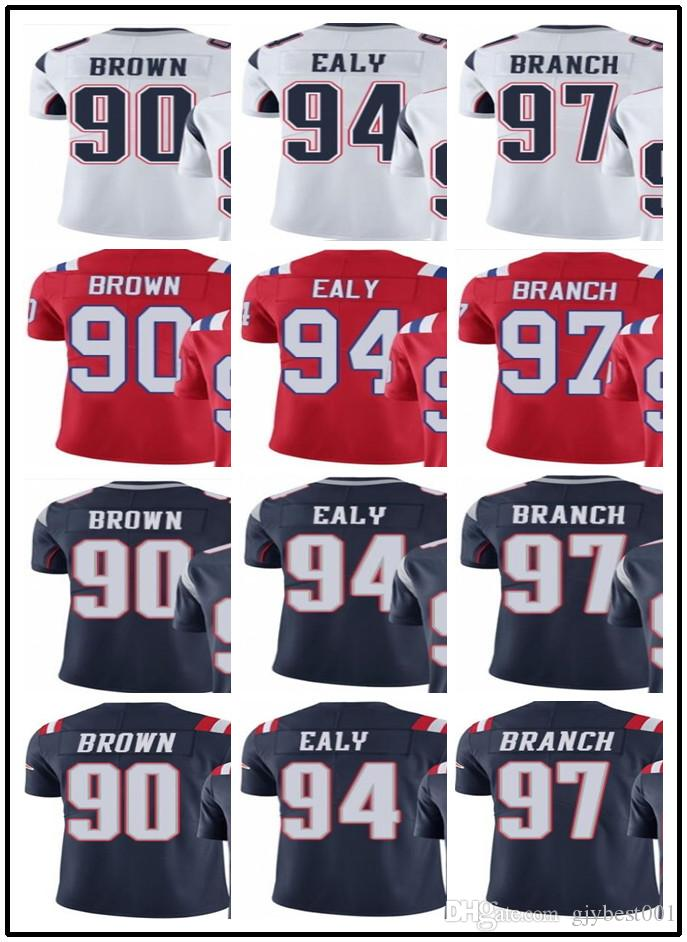 Cheap 2019 2018 Can Custom Men New England Patriots Jerseys #90 Malcom
