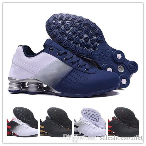 low priced a2d05 02876 Wholesale White Black Red Classic Shox Avenue Zapatillas De Deporte Mens  Chaussures Femme Breathable Comfortable Trainers Tennis Shoes Kids Running  Shoes ...