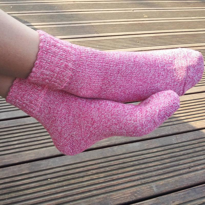dac5df9ff 2019  Pack Autumn Winter Thick Wool Socks Women Brand Socks Female Lovely  Cute Sock Warm Soft Solid Color Casual Sock From Clothesg119