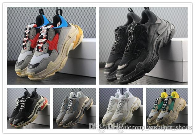 timeless design 8d7d7 bdca0 Acquista Sneakers Retro BL Triple S 2018 Da Uomo Donna Scarpe Casual Kanye  West Old Grandpa Scarpe Casual Sneaker Professionale Scarpa Da Esterno A   131.98 ...