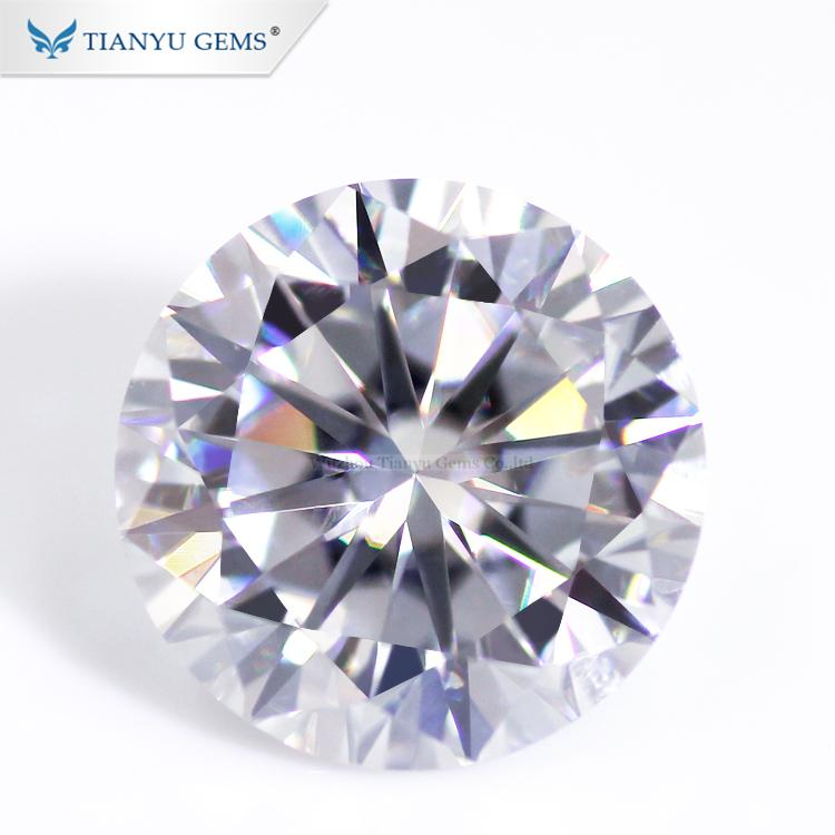Tianyu gems loose moissanite stones 8 hearts and arrows DEF VVS 1 0 carat  white moissanite diamond
