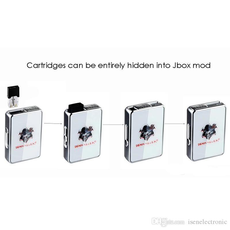 Authentic Demon Killer JBOX Mod E Cigarette Box Mods 420mAh Battery Thick Oil Cartridges Suppressible Portable Vape Mods Fit J Pods